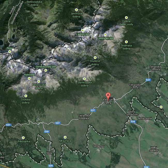 map high tatras